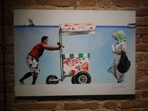 Alcune delle immagini della mostra dal titolo «Il cammino... in cammino»: Edoardo Bennato espone, come pittore, ai Magazzini del Sale di Palazzo Pubblico, a Siena, fino al 3 dicembre